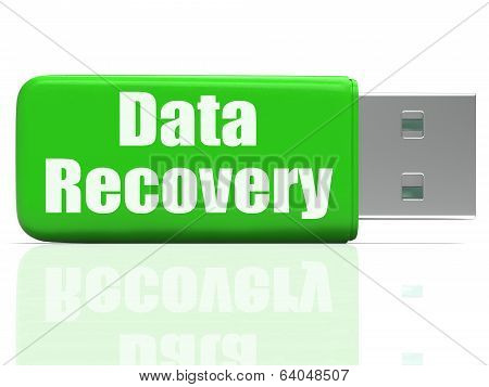 Data Recovery Pen Drive Means Safe Files Transfer Or Data Recove