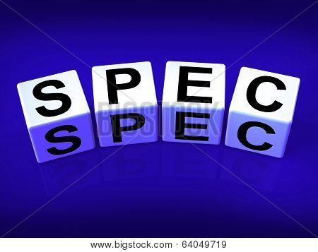 Spec Blocks Refer To Details Specifications And Blueprint