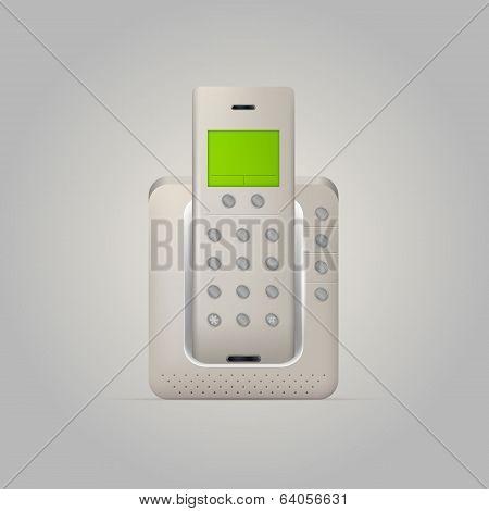 Illustration of home radiotelephone