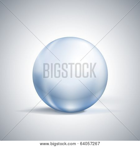 glossy sphere on white