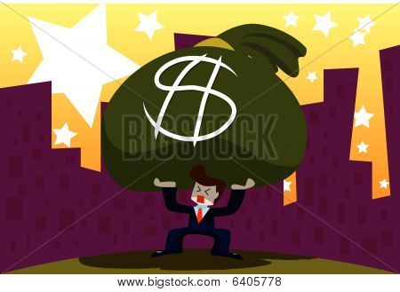 Homem de negócios e dinheiro