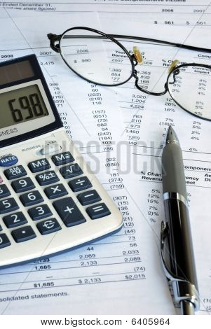Reviewing the financial report of a company
