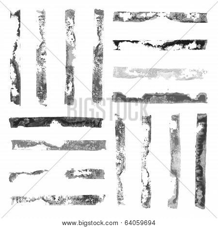 Black and White rectangular paint stamps