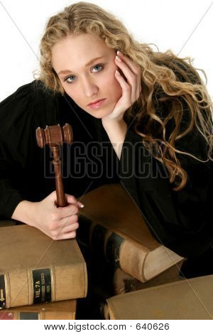 Beautiful Blond Woman Judge
