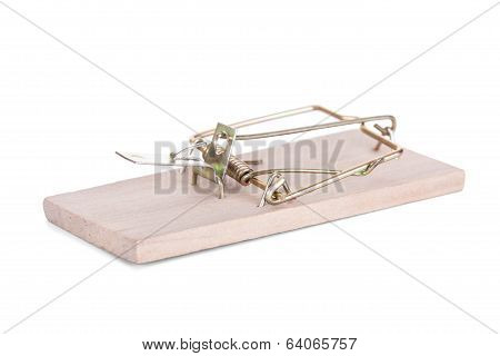 Mouse Trap Isolated On White Background