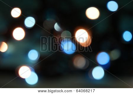 Blue Lights Bokeh