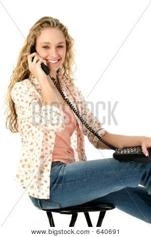 Beautiful Female On Phone