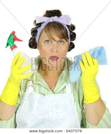 schockiert Hausfrau