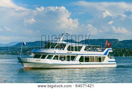 Albis Ship On Lake Zurich
