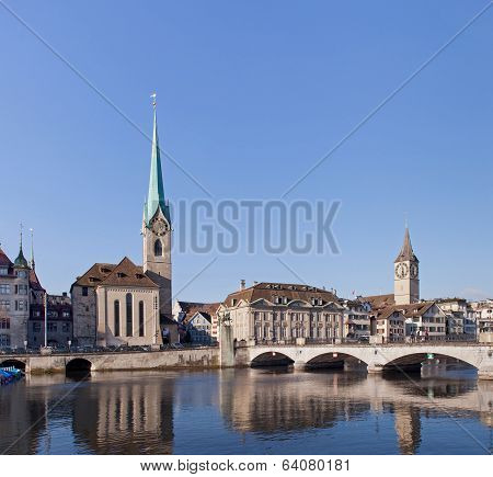 Zurich, Lady Minster And St. Peter Church