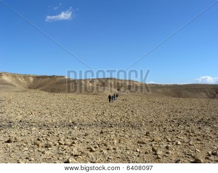 Hiking in Negev Desert