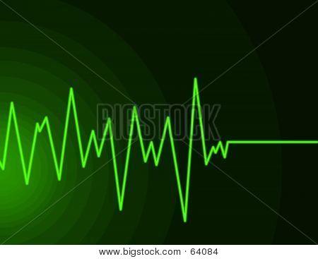 Neon Green Radio Wave