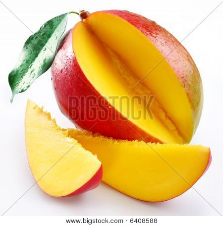Mango with its sections