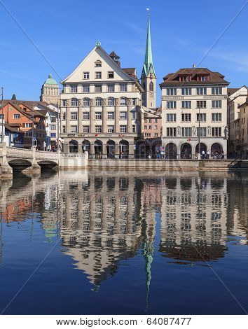 Zurich, view across the Limmat river