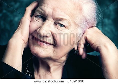 Portrait of a beautiful smiling senior woman.