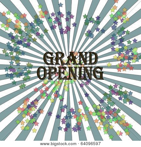 Abstract Background With The Text Grand Opening Written Inside, Vector Illustration