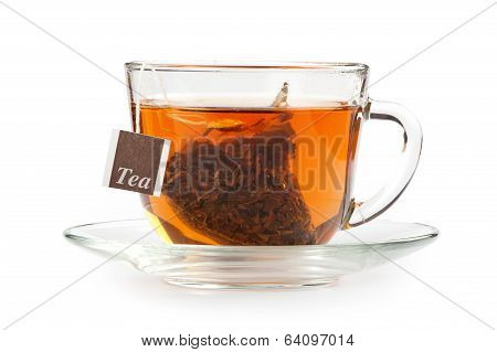 A Cup Of Tea With Tea Bag