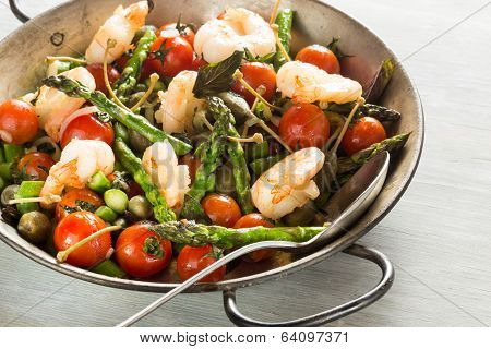 Shrimps and Asparagus stir-fry