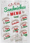stock photo of tomato sandwich  - Sandwiches menu the names of sandwiches  - JPG