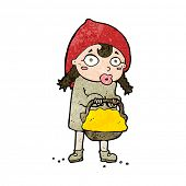 image of little red riding hood  - little red riding hood cartoon - JPG