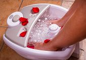 stock photo of foot massage  - Woman - JPG