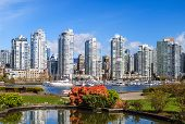 stock photo of inlet  - View on Downtown Vacouver from False Creek - JPG
