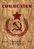 stock photo of hammer sickle  - Poster of USSR - JPG