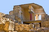 foto of minos  - The ancient complex of Knossos Palace is the famous archaeological site on Crete Greece - JPG