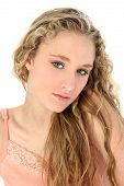 Portrait Of Glamorous Blond poster