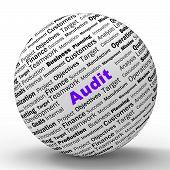 image of financial audit  - Audit Sphere Definition Meaning Financial Inspection Verification Or Audit - JPG