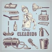 image of household  - spring cleaning  - JPG
