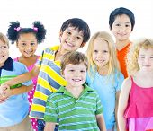 image of pre-adolescent child  - Group of Children - JPG