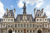 stock photo of rebuilt  - The town hall of Paris - JPG