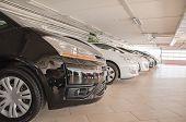 foto of parking lot  - Many cars in parking lot or garage - JPG