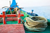 picture of dhoni  - Close up of a traditional maldivian fishing boat dhoni - JPG