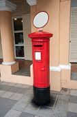 image of postbox  - Famous classic red  old postbox on the street of the Singapore - JPG