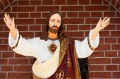stock photo of sacred heart jesus  - Statue of Jesus Christ - JPG