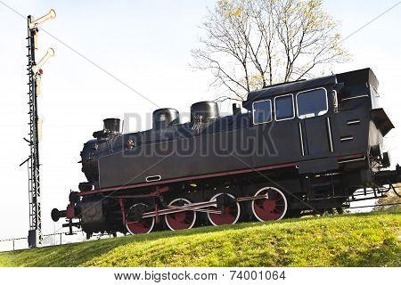 Old fashion locomotive