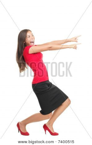 Pointing Woman