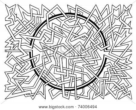 Brain-teaser vector labyrinth
