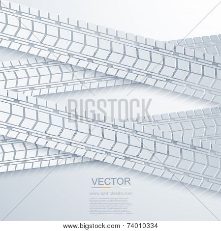 vector modern trace of the tire background
