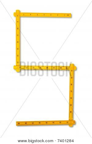 Carpenter Rule Looking Like Number Five