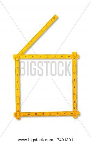 Carpenter Rule Looking Like Number Six