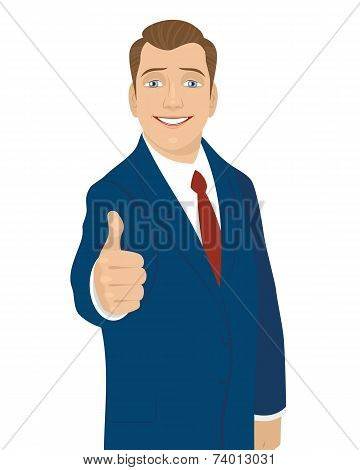 Businessman Thumb Up Gesture
