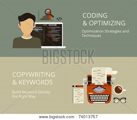 Coding and copywriting