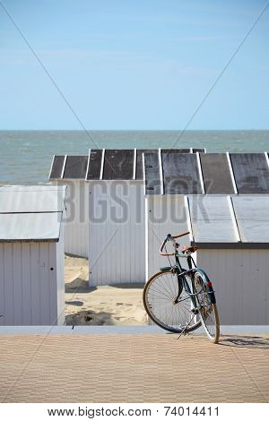 Bike On A Seafront Promenade