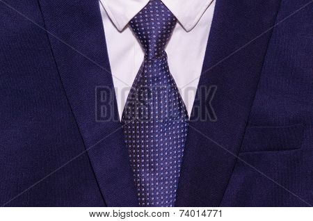 Businessman Suit With A White Shirt And A Necktie