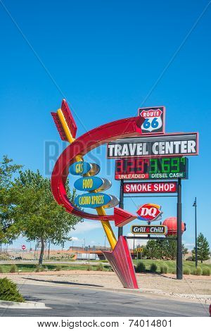 Travel Center Signs Route 66 New Mexico