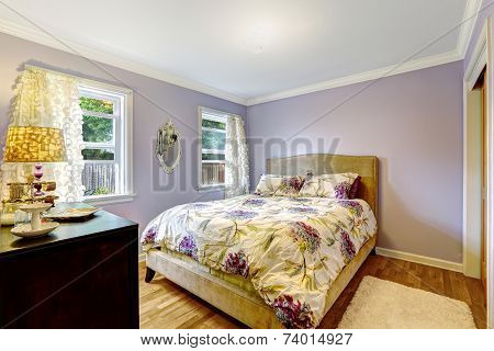 Bedroom In Light Lavender Color