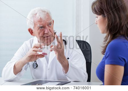 Doctor Prescribing Patient Red Pills